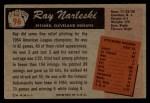 1955 Bowman #96  Ray Narleski  Back Thumbnail