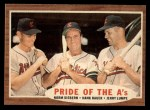 1962 Topps #127 NRM  -  Norm Siebern / Hank Bauer / Jerry Lumpe Pride of the A's Front Thumbnail