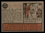 1962 Topps #150 NRM Al Kaline  Back Thumbnail