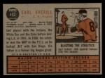 1962 Topps #452  Earl Averill Jr.  Back Thumbnail