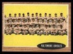 1962 Topps #476   Orioles Team Front Thumbnail