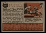 1962 Topps #344  Ed Bauta  Back Thumbnail