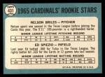 1965 Topps #431   -  Nelson Briles / Wayne Spiezo Cardinals Rookies Back Thumbnail