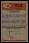 1955 Bowman #30  Tom Keane  Back Thumbnail