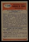 1955 Bowman #145  Adrian Burk  Back Thumbnail