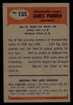 1955 Bowman #135  James Parmer  Back Thumbnail