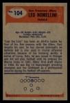 1955 Bowman #104  Leo Nomellini  Back Thumbnail