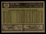 1961 Topps #215  Gus Bell  Back Thumbnail