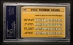 1963 Topps #549   -  Marcelino Lopez / Paul Ratliff / Pete Lovrich / Elmo Plaskett Rookies Back Thumbnail