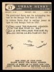 1959 Topps CFL #17  Urban Henry  Back Thumbnail