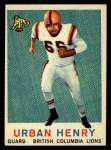 1959 Topps CFL #17  Urban Henry  Front Thumbnail