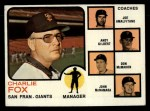 1973 Topps #252 ^ORG^  -  Charlie Fox / Joe Amalfitano / Andy Gilbert / Don McMahon / John McNamara Giants Leaders Front Thumbnail