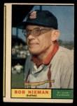 1961 Topps #178  Bob Nieman  Front Thumbnail