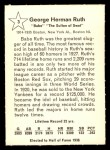 1961 Golden Press #3  Babe Ruth     Back Thumbnail