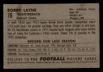 1952 Bowman Small #78  Bobby Layne  Back Thumbnail