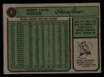 1974 Topps #1   -  Hank Aaron New All-Time Home Run King Back Thumbnail
