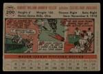 1956 Topps #200  Bob Feller  Back Thumbnail