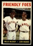 1964 Topps #41   -  Willie McCovey / Leon Wagner Friendly Foes Front Thumbnail