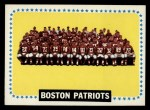 1964 Topps #21   Boston Patriots Team Front Thumbnail