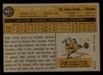 1960 Topps #401  Bob Duliba  Back Thumbnail