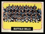 1964 Topps #43   Buffalo Bills Team Front Thumbnail