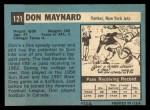 1964 Topps #121  Don Maynard  Back Thumbnail