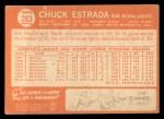 1964 Topps #263  Chuck Estrada  Back Thumbnail