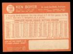 1964 Topps #160  Ken Boyer  Back Thumbnail