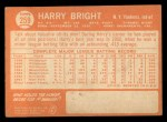 1964 Topps #259  Harry Bright  Back Thumbnail