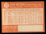 1964 Topps #277  Ken Retzer  Back Thumbnail