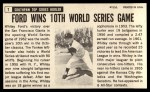 1964 Topps Giants #7  Whitey Ford   Back Thumbnail