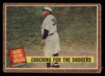 1962 Topps #142 A  -  Babe Ruth Coaching for the Dodgers Front Thumbnail