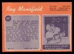 1970 Topps #107  Ray Mansfield  Back Thumbnail