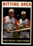 1964 Topps #162   -  Dick Sisler / Vada Pinson Hitting Area Front Thumbnail