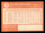 1964 Topps #366  Nelson Mathews  Back Thumbnail