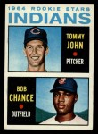 1964 Topps #146   -  Tommy John / Bob Chance Indians Rookies Front Thumbnail