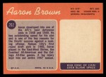 1970 Topps #202  Aaron Brown  Back Thumbnail