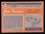 1970 Topps #104  Jim Turner  Back Thumbnail