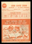 1963 Topps #147  John David Crow  Back Thumbnail