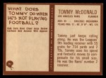 1967 Philadelphia #91  Tommy McDonald  Back Thumbnail