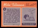 1970 Topps #22  Mike Tilleman  Back Thumbnail
