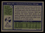 1972 Topps #71  Bob Lee  Back Thumbnail
