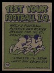 1972 Topps #258   -  Bob Lee Pro Action Back Thumbnail