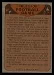 1974 Topps Football Team Checklists #11   Oilers Team Checklist Back Thumbnail