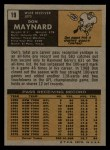 1971 Topps #19  Don Maynard  Back Thumbnail