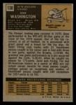 1971 Topps #130  Gene Washington  Back Thumbnail