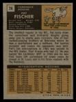 1971 Topps #74  Pat Fischer  Back Thumbnail