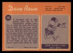 1970 Topps #101  Dave Rowe  Back Thumbnail