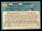1965 Topps #487  Woody Woodward  Back Thumbnail