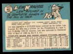 1965 Topps #462  Lew Krausse  Back Thumbnail